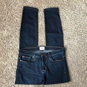 [Hudson] Nico Super Skinny Midrise Jeans- 26-Dark